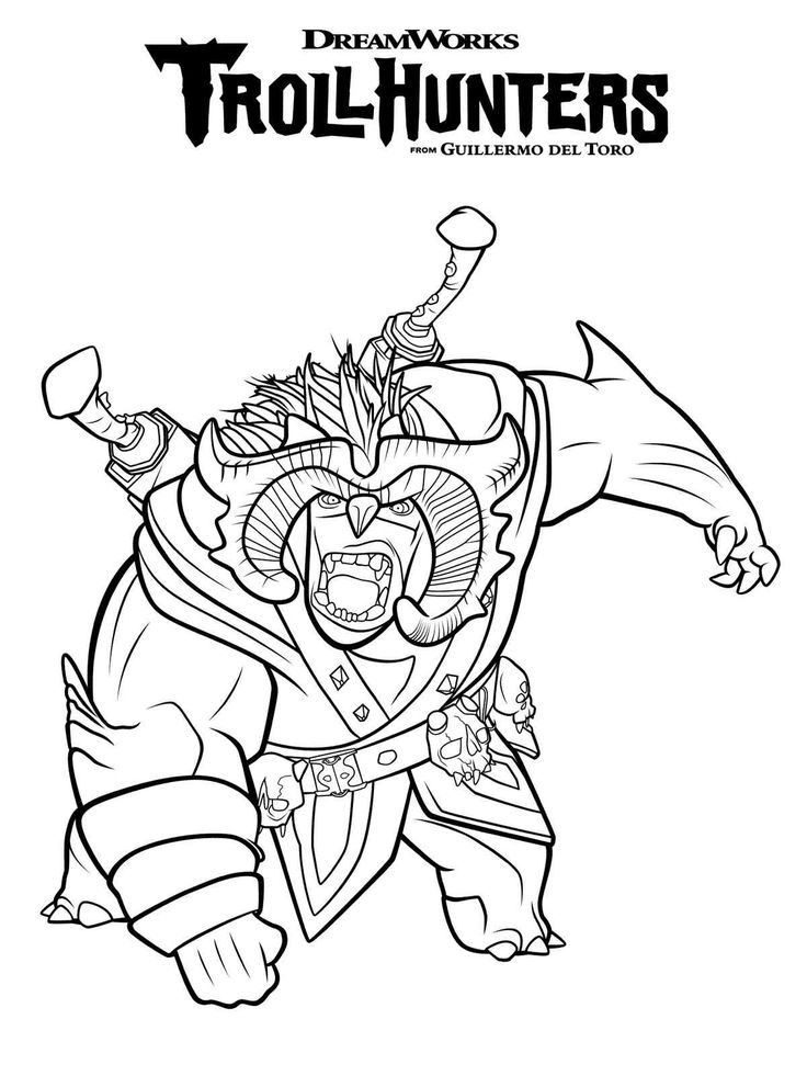coloring page trollhunters scary bular (com imagens