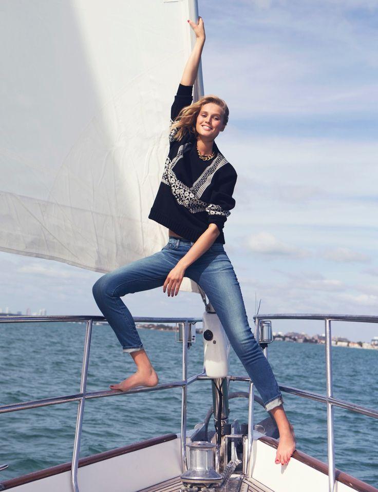 toni garrn david bellemere shoot5 Toni Garrn Gets Nautical for The Edit, Talks Her Career