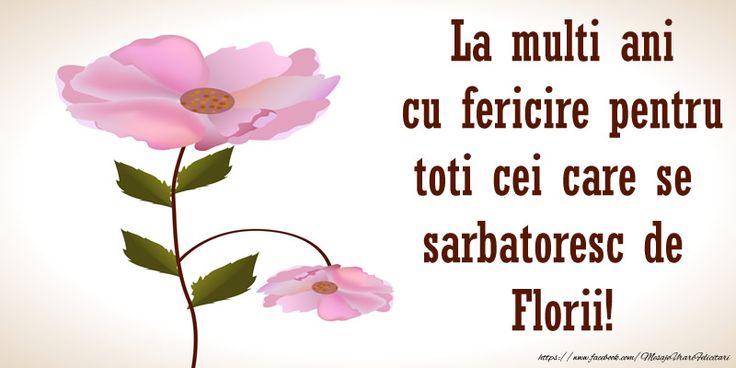 La multi ani cu fericire pentru toti cei care se  sarbatoresc de  Florii!
