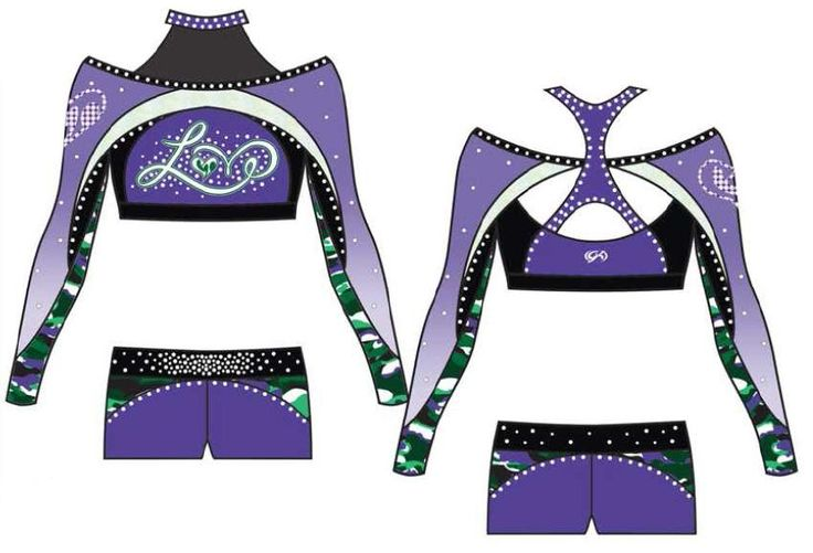 2014 Cheer Tyme Love Custom GK Cheer Uniform