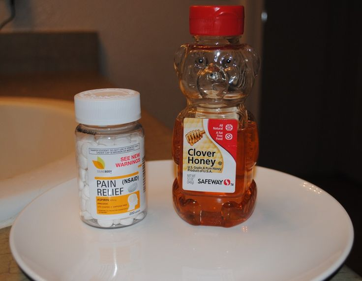 Aspirin Mask to clear up acne!