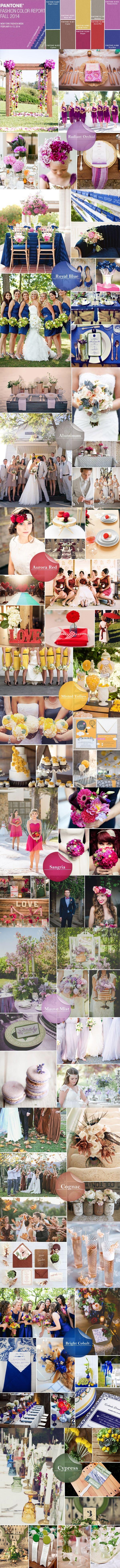 Pantone fall wedding color schemes 2014
