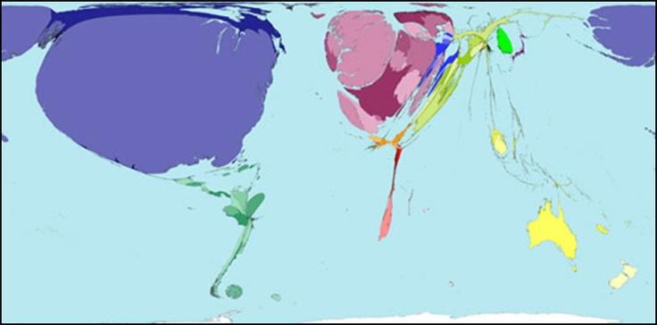 Import av leker -verdenskart.