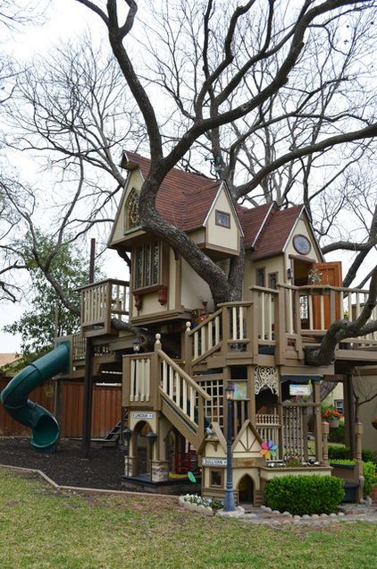 An incredible tree-house for your kids in the backyard eclectic kids by Sarah Greenman