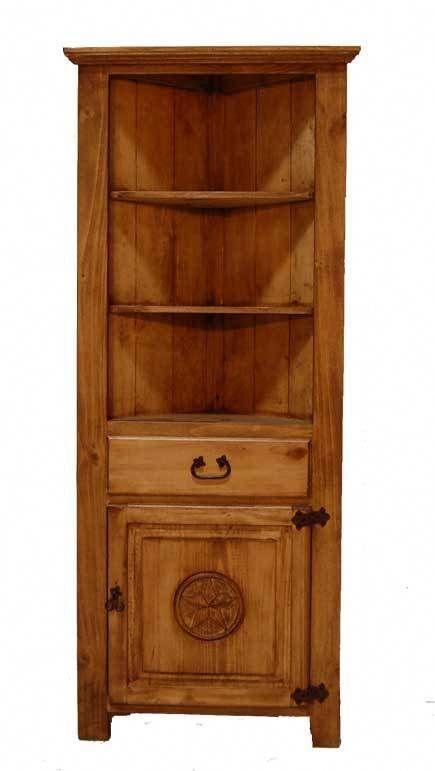Corner Bookcase W Star Great Western Furniture Company Rusticfurniture