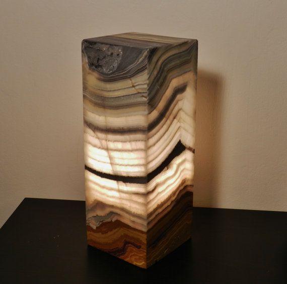 Natural Stone Lamp Onyx/alabaster Modern by INSPIREDSTONEWORK