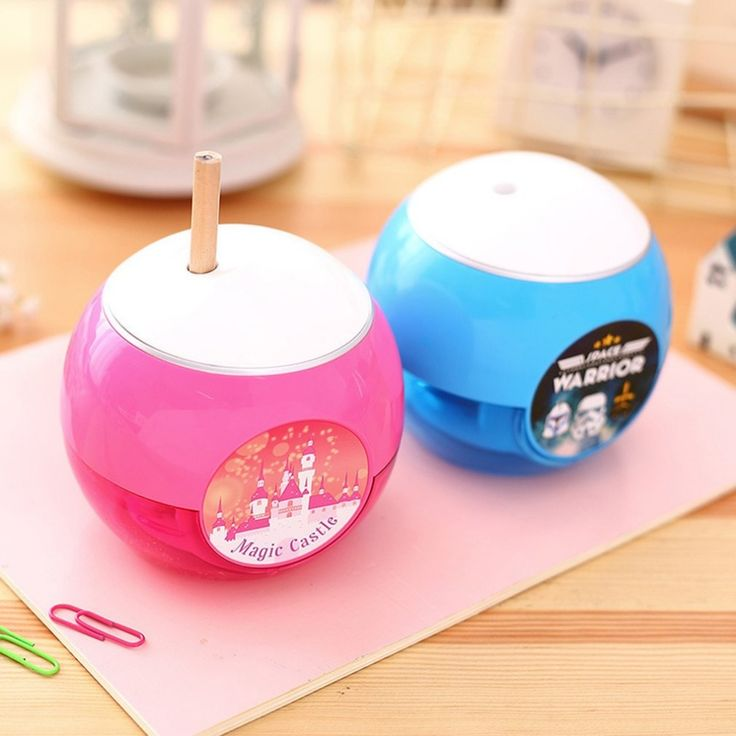Deli Small Round Shape Pencil Sharpener Practical School Office Students Electric Desktop Pencil Sharpener Supplies DropShipping
