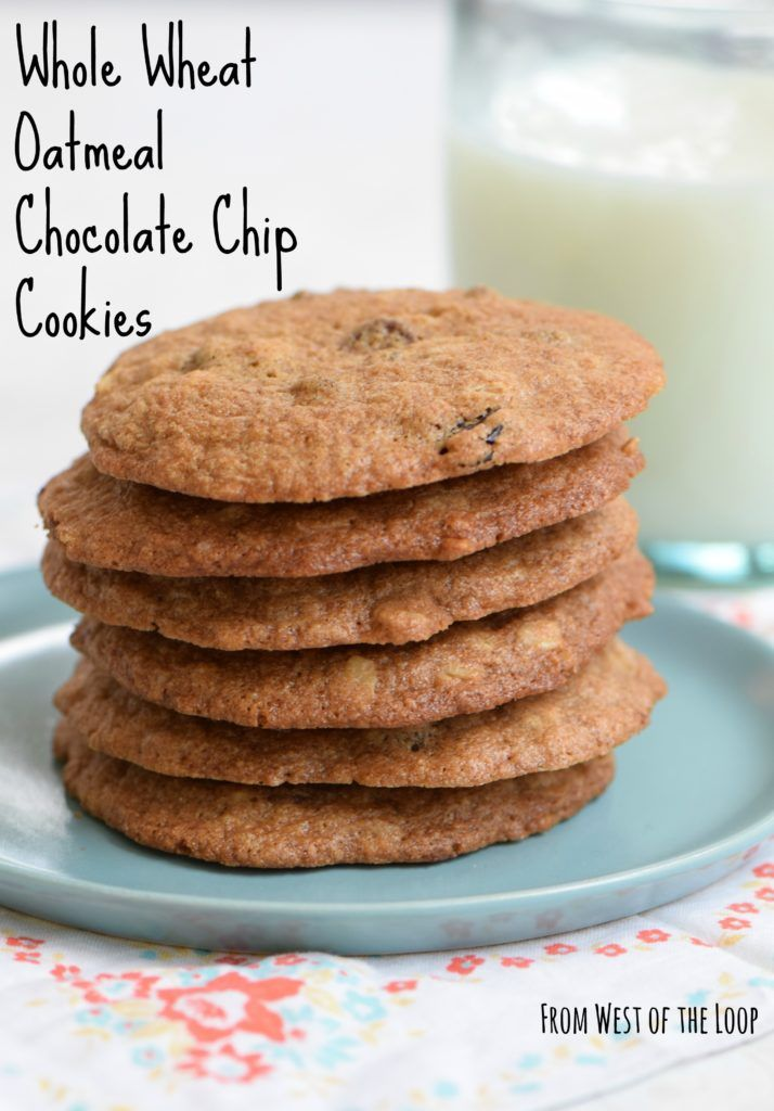 Whole wheat oatmeal chocolate chip cookies are a healthy indulgence with the goodness of whole grains.
