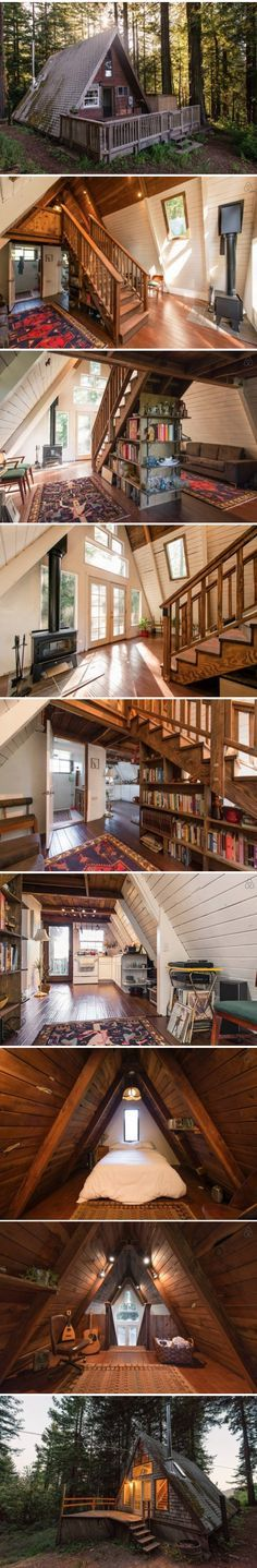 Beautiful A-Frame cottage in California - Get $25 credit with Airbnb if you sign up with this link http://www.airbnb.com/c/groberts22