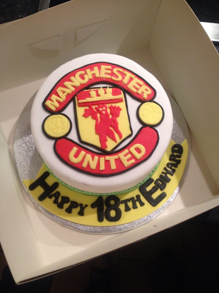 Manchester United Theme Birthday Cake