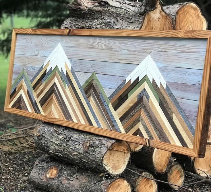 Reclaimed Wood Wall Art, Mountain Picture, Wood Wall Art, Wall Decor, Wall Art, Mountain Art, Mountain Wood Art , Reclaimed Wood