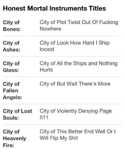 ~The Mortal Instruments~
