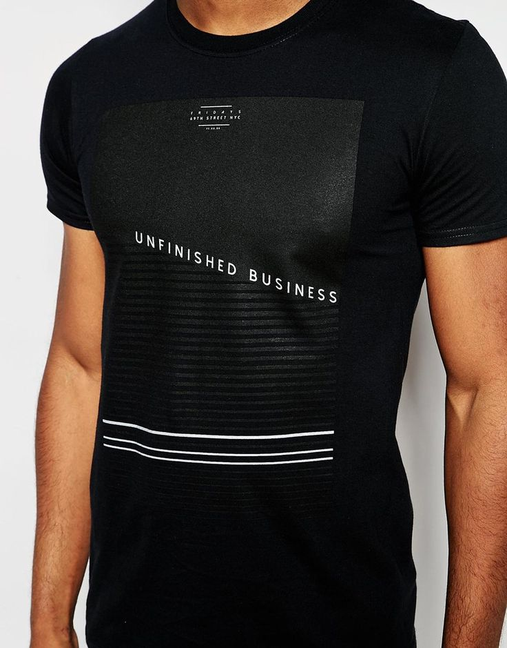 Image 3 of River Island T-Shirt With Unfinished Business Print