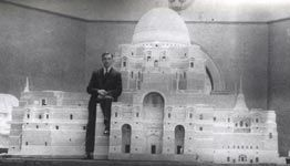 The architectural model at its unveiling at the Royal Academy in 1934