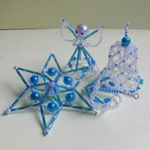Světle modrá vánoční sada