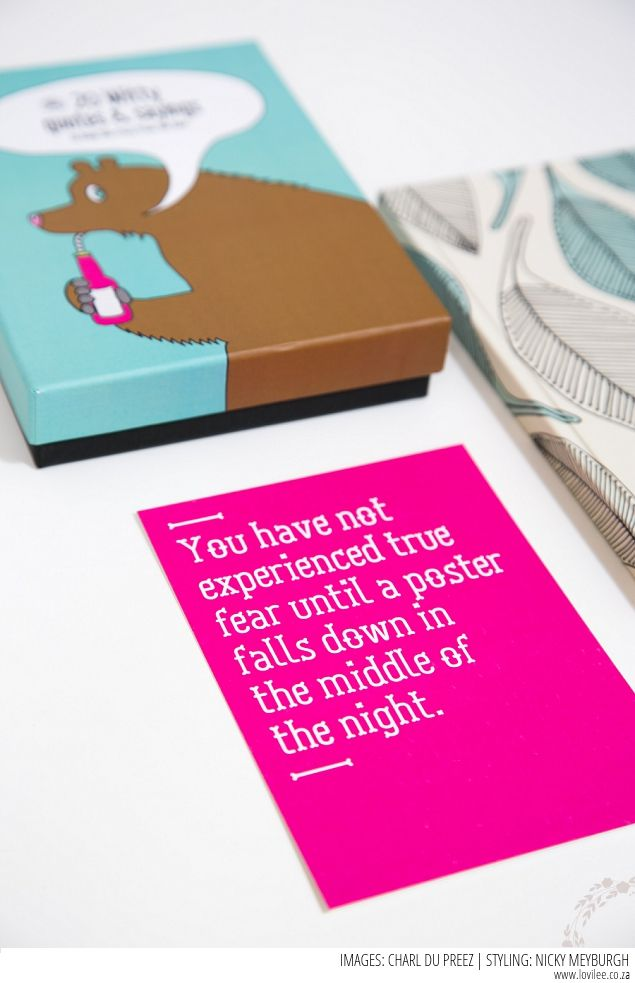 WIN tickets to KAMERS Autumn 2015 Johannesburg, 23-27 April at St John's College - quirky quote cards and notebooks