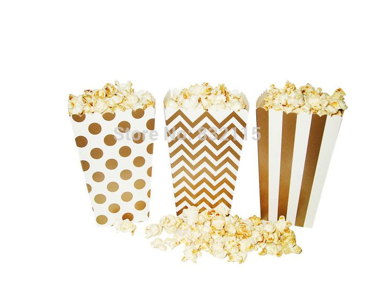 Gold Metallic Candy Box in Stripes,Dots,Chevron,Rugby, Gold Favor Bags,Gold Party Bags, Gold Candy Popcorn box -( 12/ 24 /36)