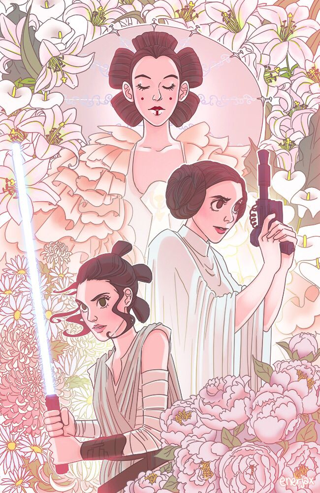 The Queen, the General, and the Jedi. Ladies of Star Wars