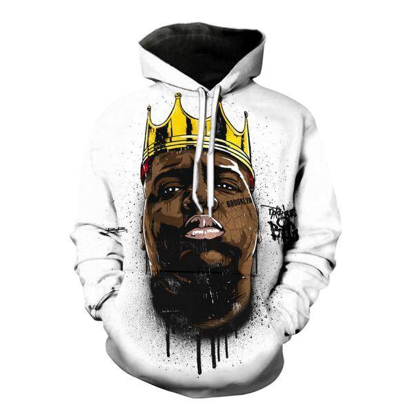 The Notorious B.I.G Biggie Smalls Mens Hoodie Big Hip-Hop