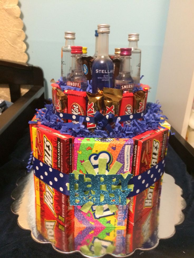 Candy And Liquor Bottle Cake Liquor Bottle Cake Bottle Cake Liquor Bottles