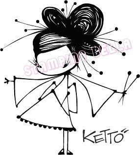 Ginger Ketto Unmounted Rubber Stamp