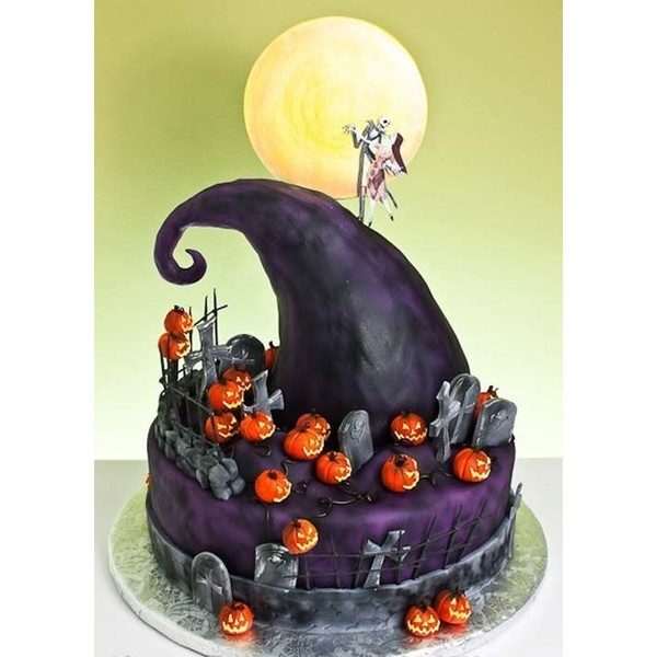 Decorative Cakes / Nightmare Before Christmas found on Polyvore