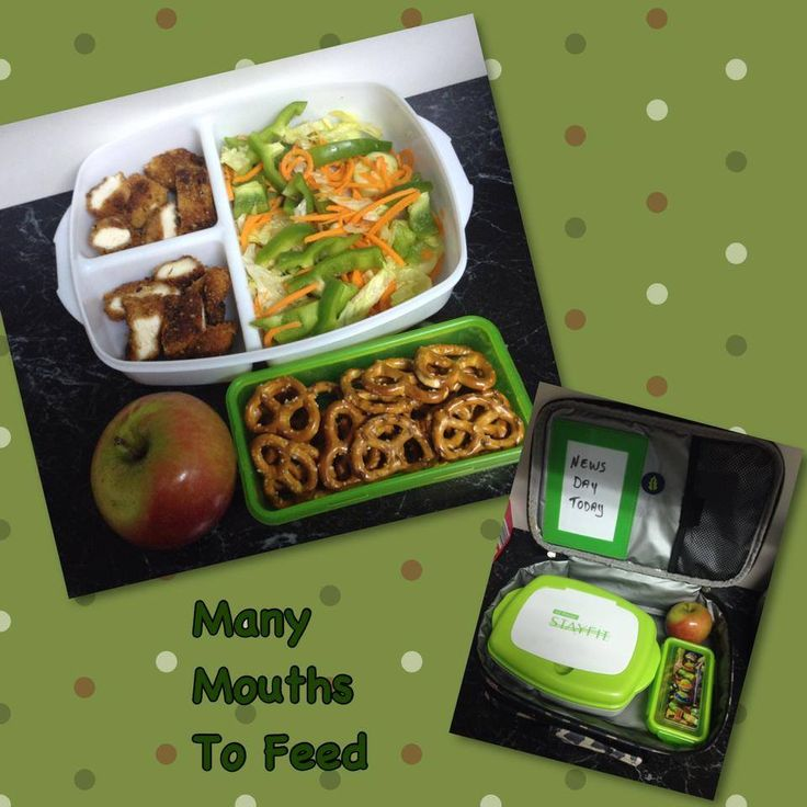 chicken strips salad apple and pretzels lunch box creations pinterest. Black Bedroom Furniture Sets. Home Design Ideas