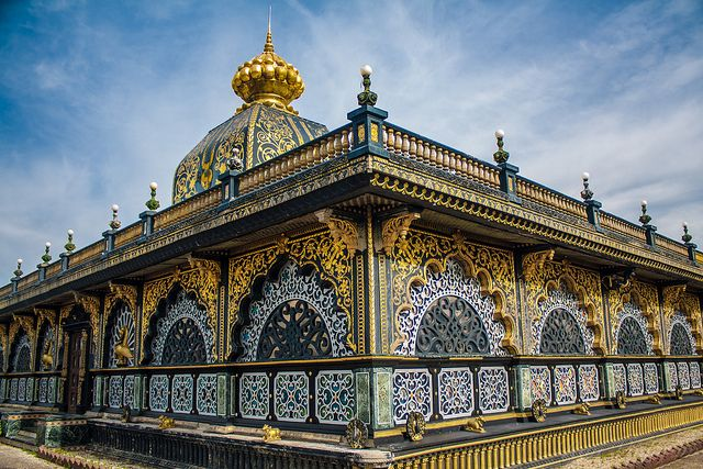 Palace of Gold or the ISKCON Temple in Moundsville, WV.