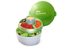 EZ Freeze Stay Fit Deluxe Salad Kit Food Storage Container