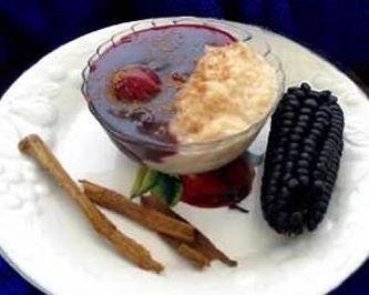 Un Clasico  Mazamorra morada y arroz con leche