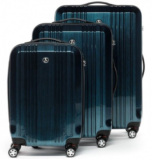 FERGÉ Dreier Kofferset CANNES - ABS & PC Trolley-Koffer royal-blau Reisegepäck Koffer & Trolleys