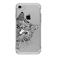 Pour Coque iPhone 7 / Coques iPhone 7 Plus / Coque iPhone 6 Motif Coque Coque Arrière Coque Chat Flexible TPU AppleiPhone 7 Plus / iPhone
