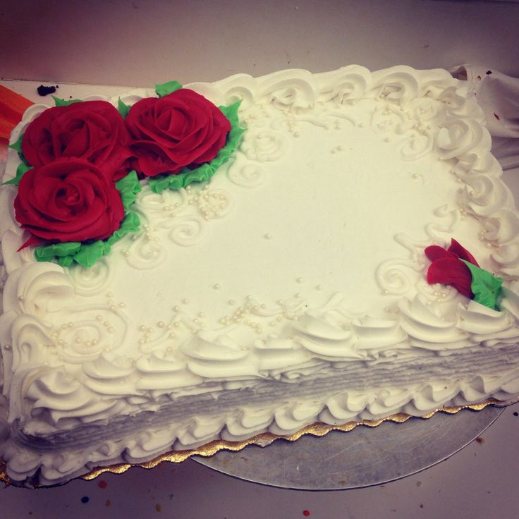 1000+ images about Buttercream Rose Sheet Cakes on ...
