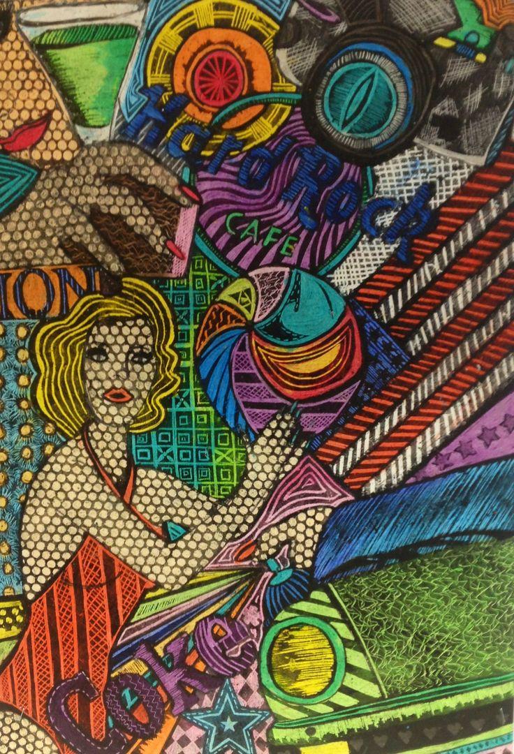 Gcse art sgraffito year 8 art ideas pinterest gcse for Inspirational art project ideas