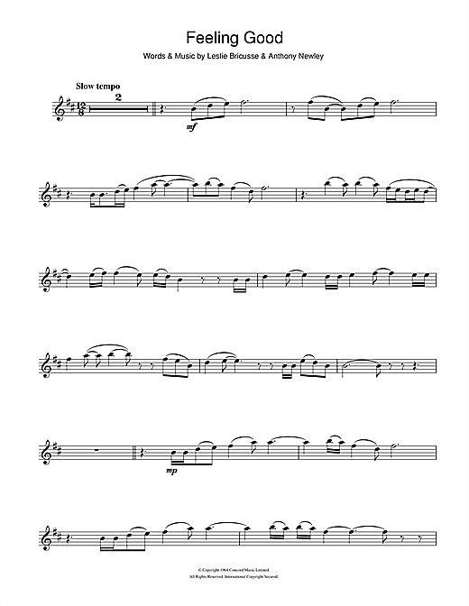 Nina Simone: Feeling Good - Partition Clarinette - Plus de 70.000 partitions à imprimer !