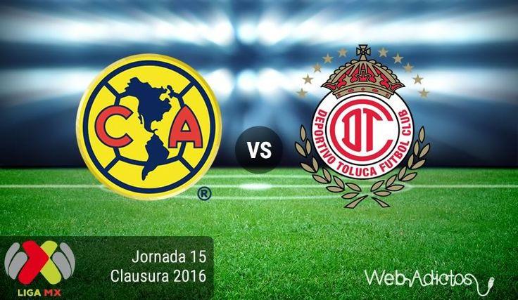 América vs Toluca, Jornada 15 Clausura 2016 ¡En vivo por internet! - https://webadictos.com/2016/04/23/america-vs-toluca-j15-clausura-2016/?utm_source=PN&utm_medium=Pinterest&utm_campaign=PN%2Bposts
