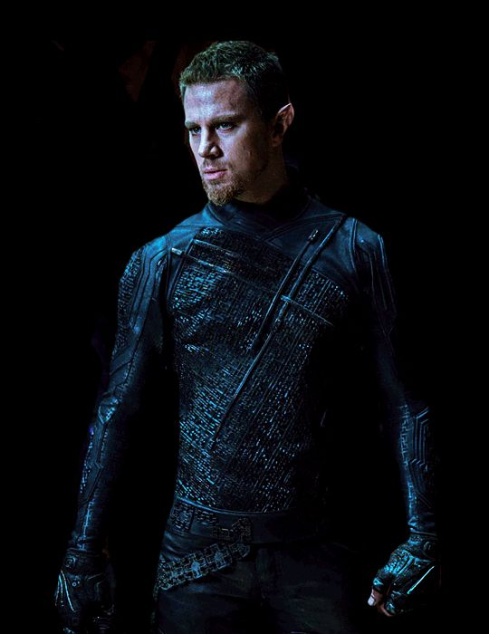 Caine Wise from Jupiter Ascending // Not the best movie, but when he whipped out those wings... oh lawdy lawd, it was all worth it