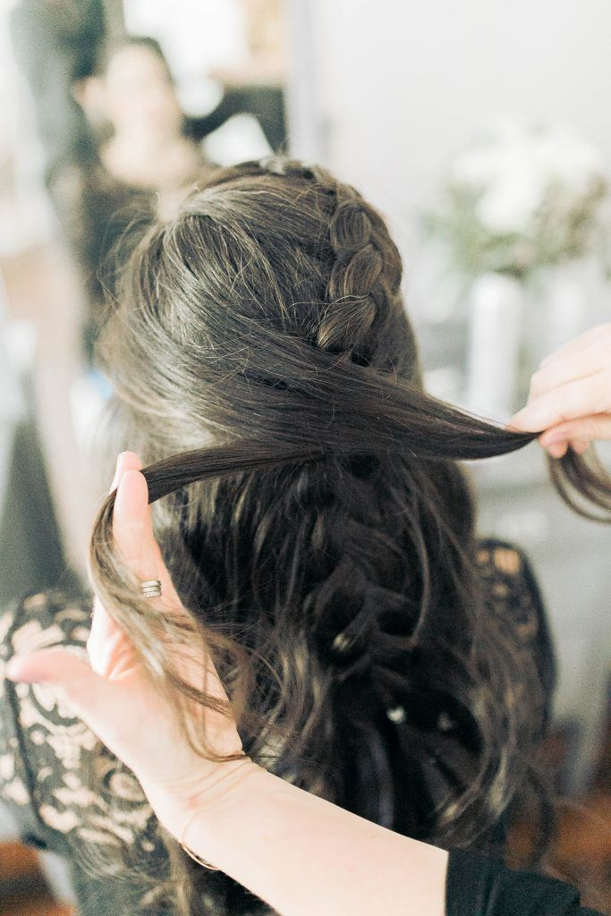 Holiday Hair Tutorial, CrissCross Braided Pony