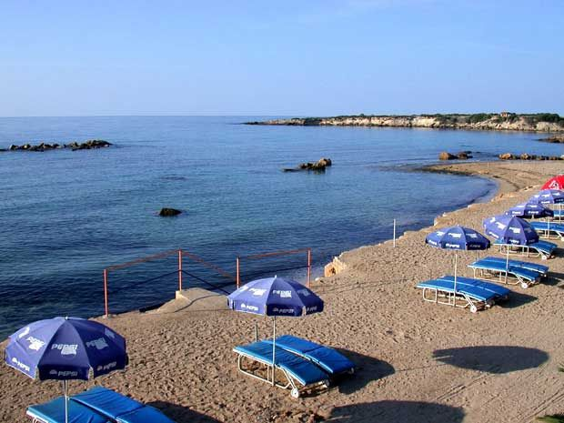 Coral Bay- For travellers staying in the Paphos area, the best beach is Coral Bay, which is shaped like a horseshoe and is made up of golden sand.