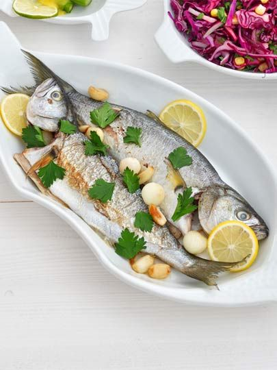 Sarımsaklı lüfer Tarifi - Türk Mutfağı Yemekleri - Yemek Tarifleri