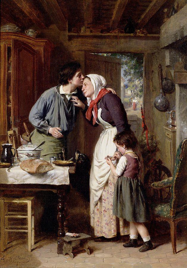 """""""A Son's Devotion"""" by Pierre Jean Edmond Castan"""