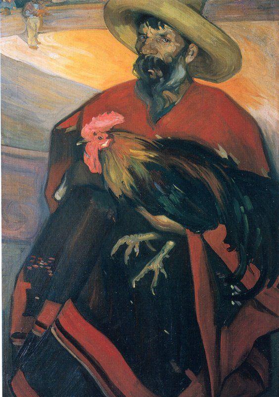 El Gallero, Saturnino Herran (pintor mexicano). 1914