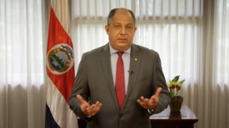 """""""Quiero pedir disculpas, quiero pedir perdón por estar incomodando a la gente por unos días más"""" Luis Guillermo Solís"""
