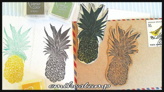 Check out this item in my Etsy shop https://www.etsy.com/listing/489249972/pineapple-stamp-hand-carved-tropical