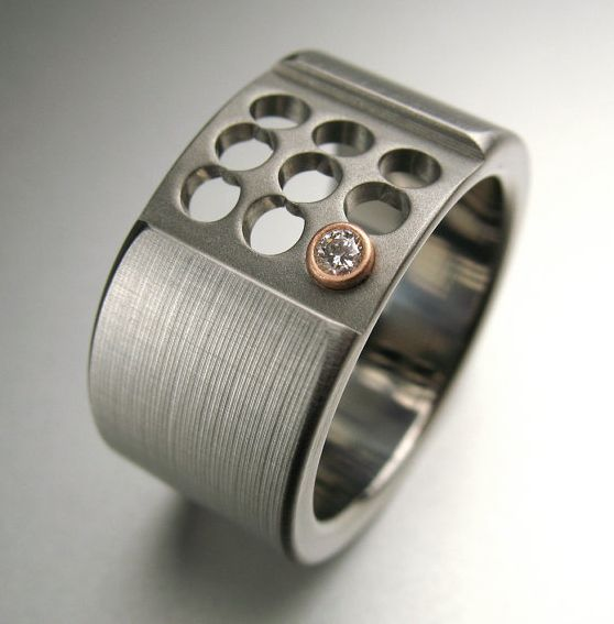 Anium Rose Gold Diamond Ring