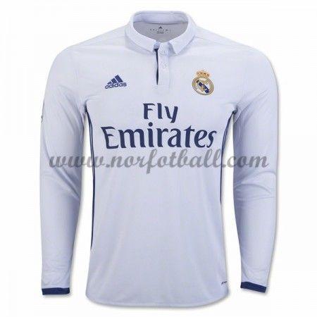 Billige Fotballdrakter Real Madrid 2016-17 Hjemme Draktsett Langermet