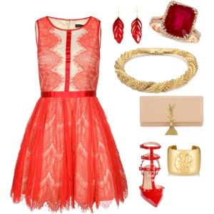 Lets go to the candy shop !! beautiful red outfit.