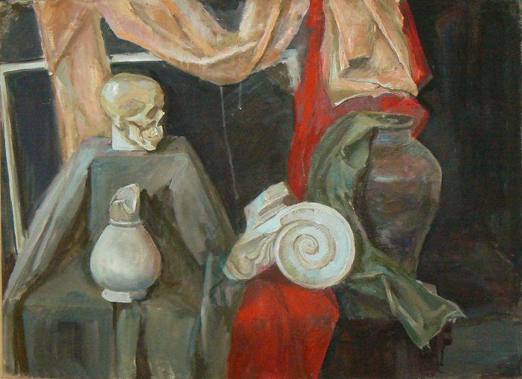 учебная постановка, натюрморт, холст, масло , 60х80 см educational raising, still life, canvas, oil, is a 60х80 cm
