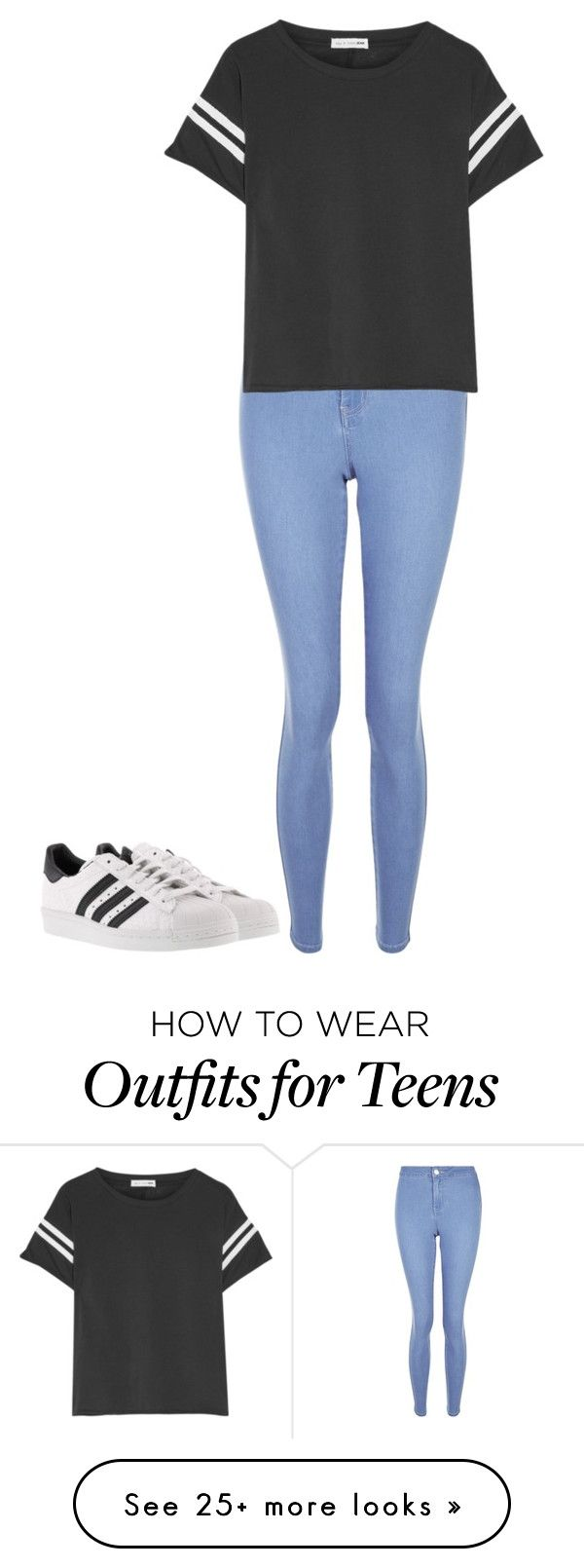 """Simple"" by marybean14 on Polyvore featuring New Look, rag & bone and adidas"