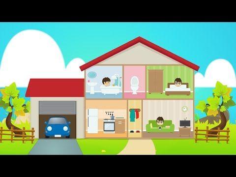 Learn House Vocabulary for Kids in Arabic - تعليم مفردات البيت للاطفال باللغة العربية - YouTube
